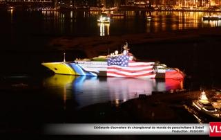 Mapping-3d-yacht-dubai drapeaux