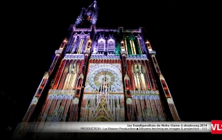cathedrale strasbourg mapping 3D VLS