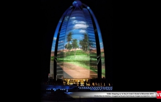 Burj al Arab mapping 3D Dubai
