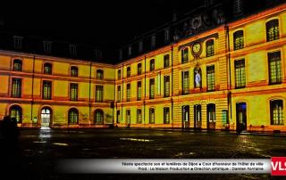 mapping_3D sur bâtiment couleur jaune