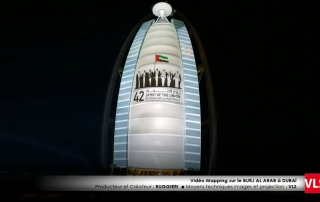 vidéo mapping a dubai par VLS au Burj al arab