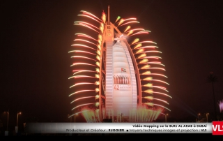 vidéo mapping dubai par VLS au Burj al Arab