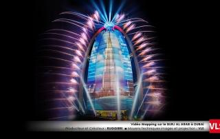 vidéo mapping dubai Burj Al Arab VLS