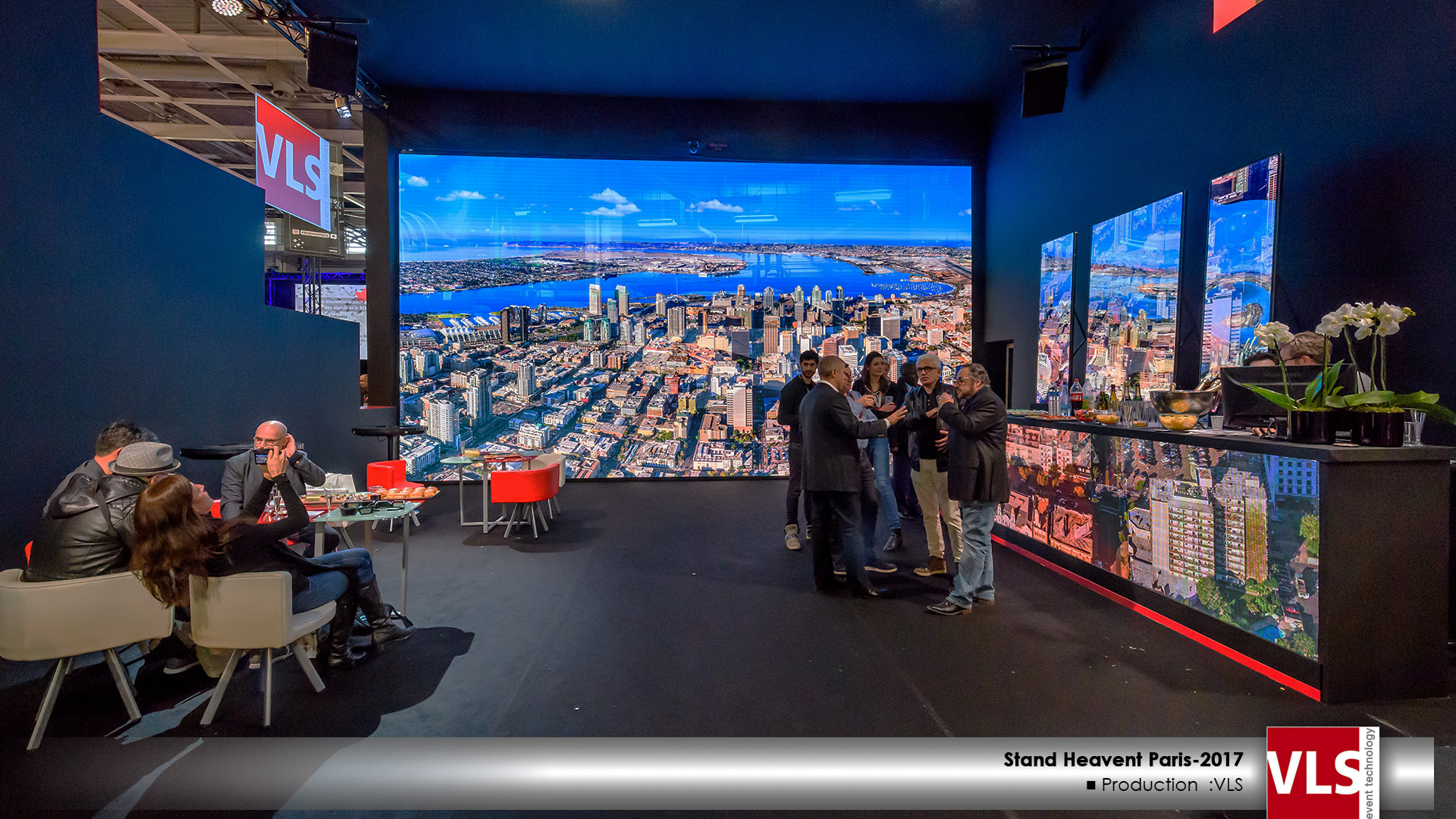 stand VLS saur le salon Heavent Paris 2017 Mur LED 3D