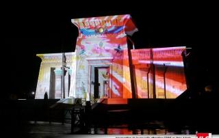 Projection de vidéo et lumière sur Oziris parc astérix