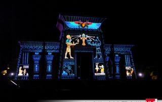 Projection 3D sur Oziris au parc astérix