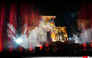 Projection vidéo sur Oziris au parc astérix