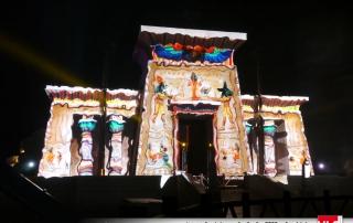 Projection vidéo sur attraction Oziris Asterix