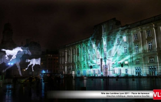 projection grande image sur bâtiment a Lyon