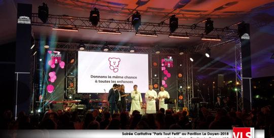 concert soirée caritative Paris Tout Petits au Pavillon Le Doyen prestation technique VLS