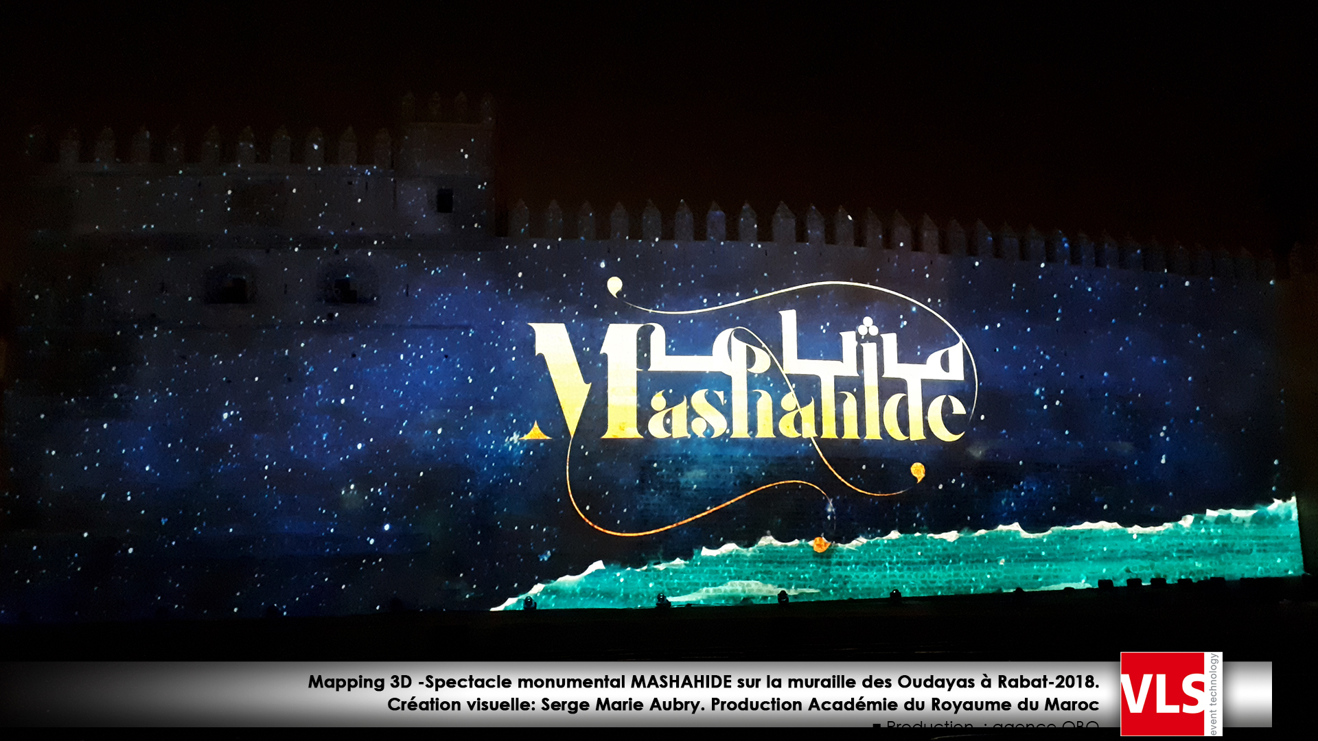 video mapping sur muraille Maroc Rabat