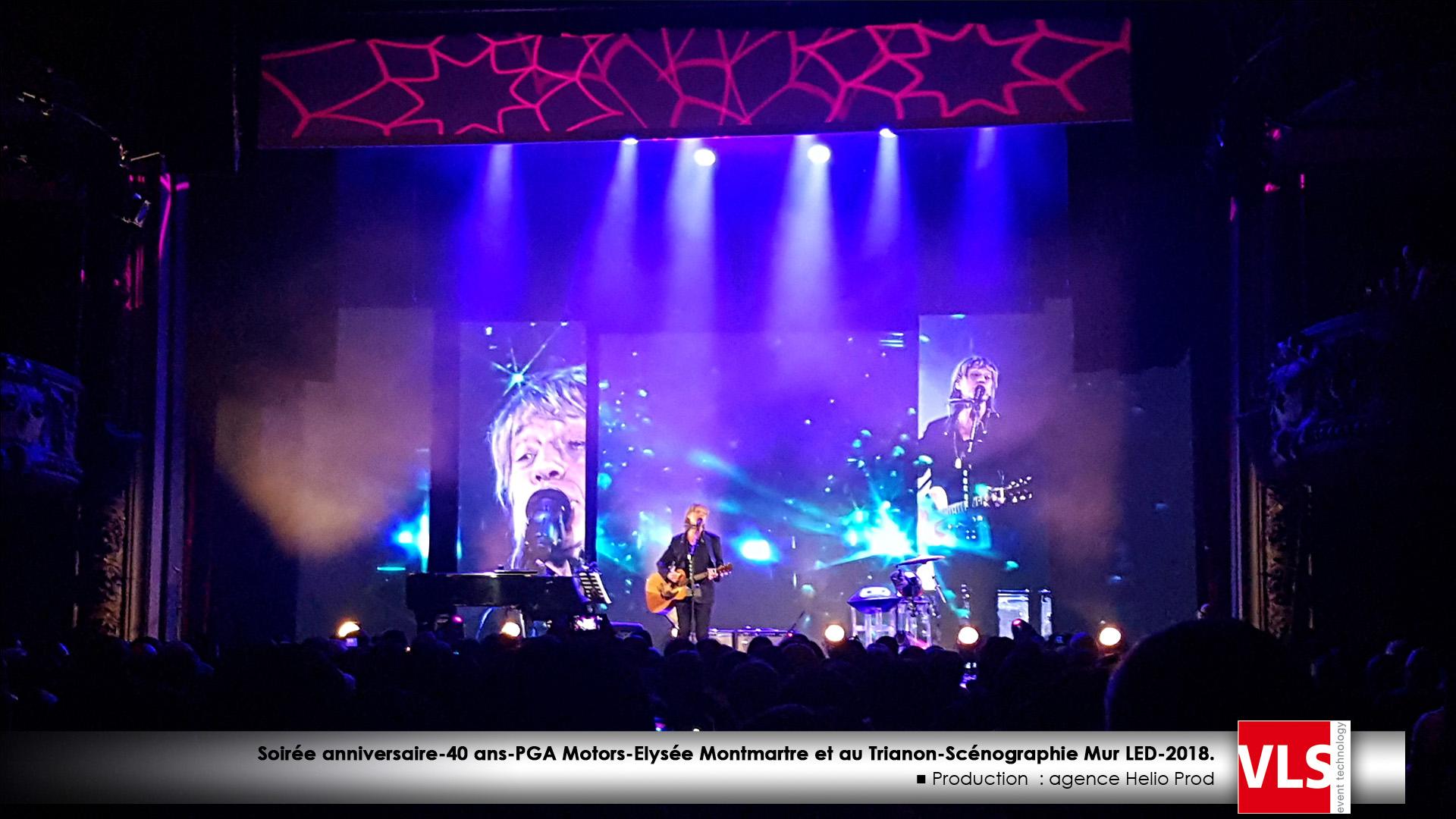LED scénographie concert