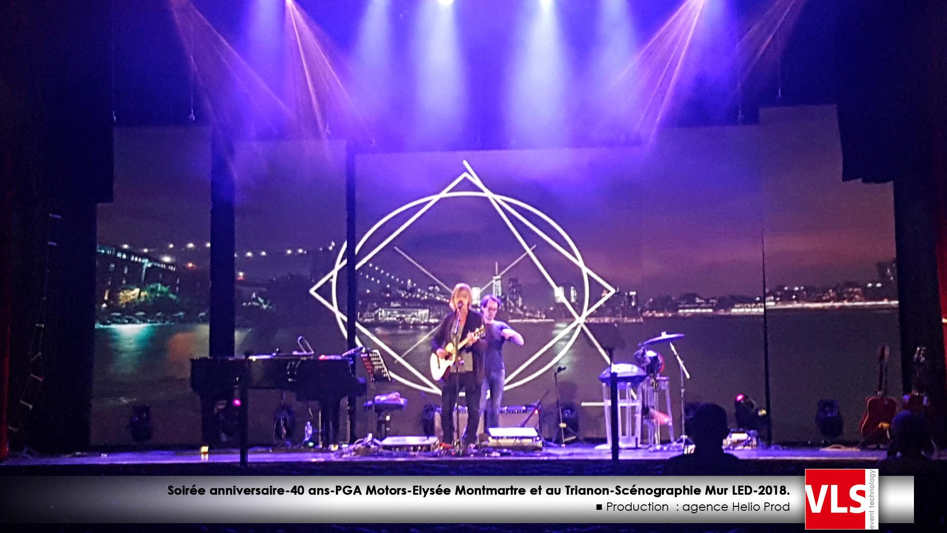 Diffusion Vidéo sur Mur LED-concert