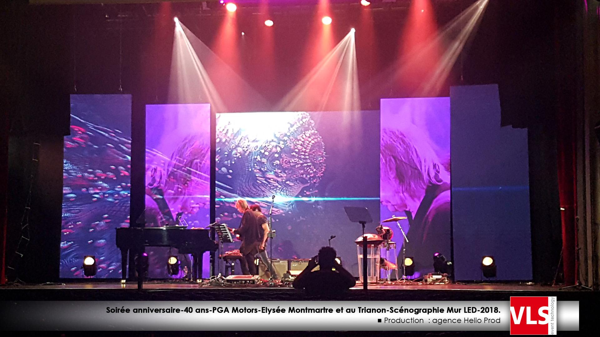 scénographie mur LED concert