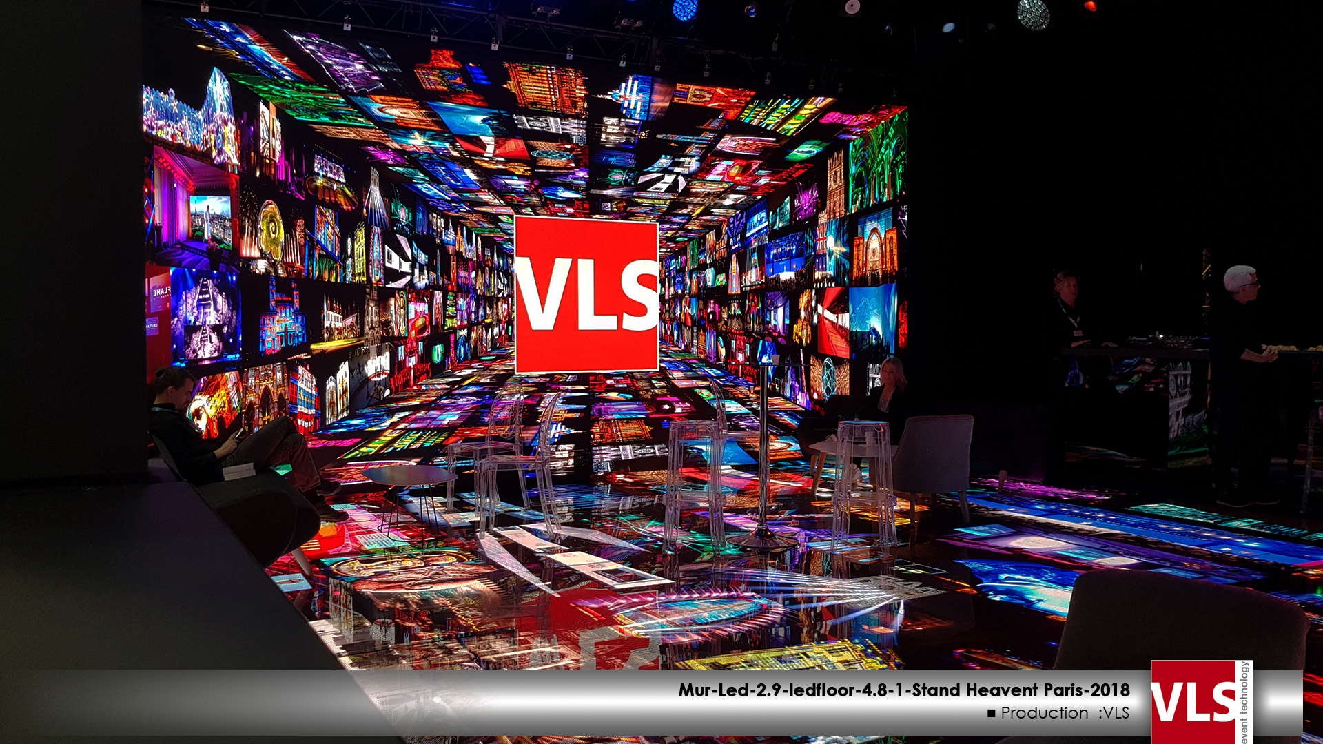 salon heavent 2018 stand VLS mur led immersif