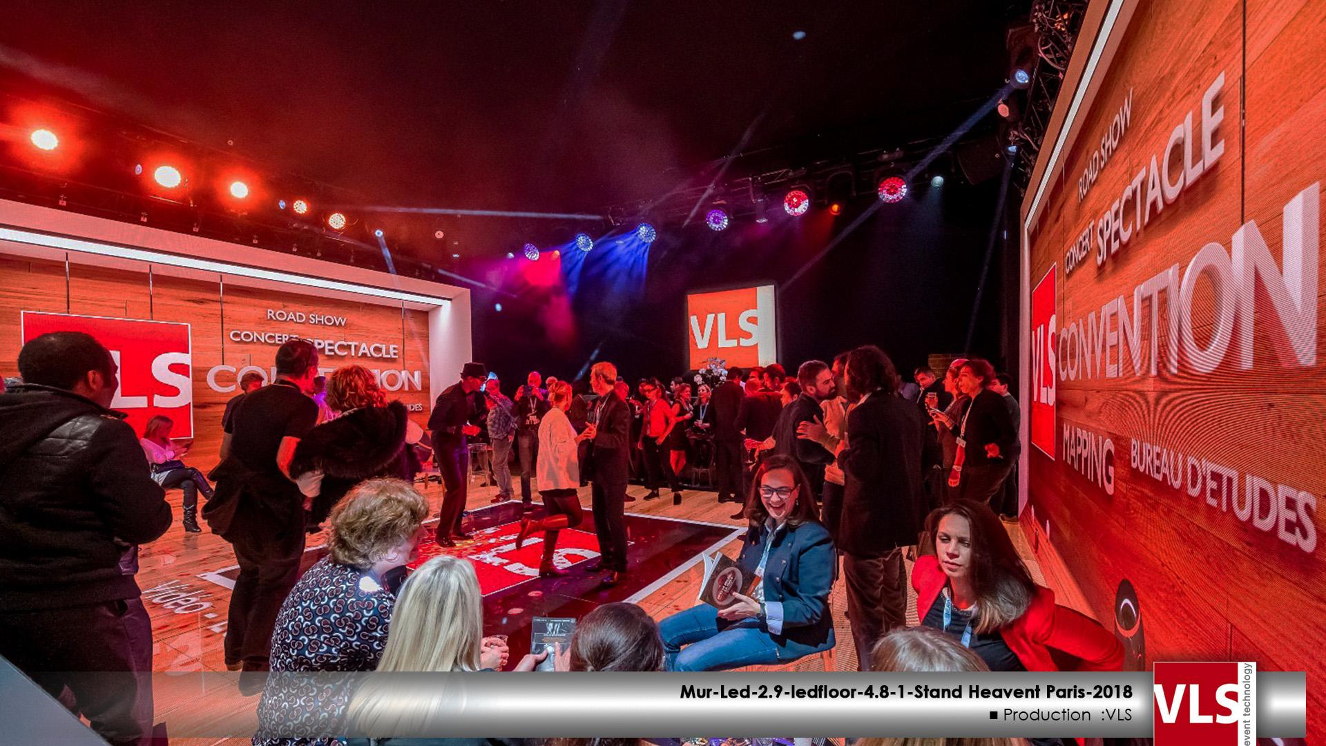 salon heavent 2018 stand VLS mur led immersif