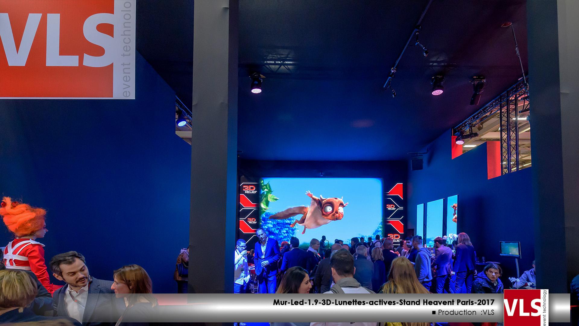 Mur LED 3D stand VLS heavent Paris 2017
