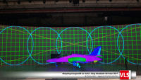 vidéo mapping sur avion