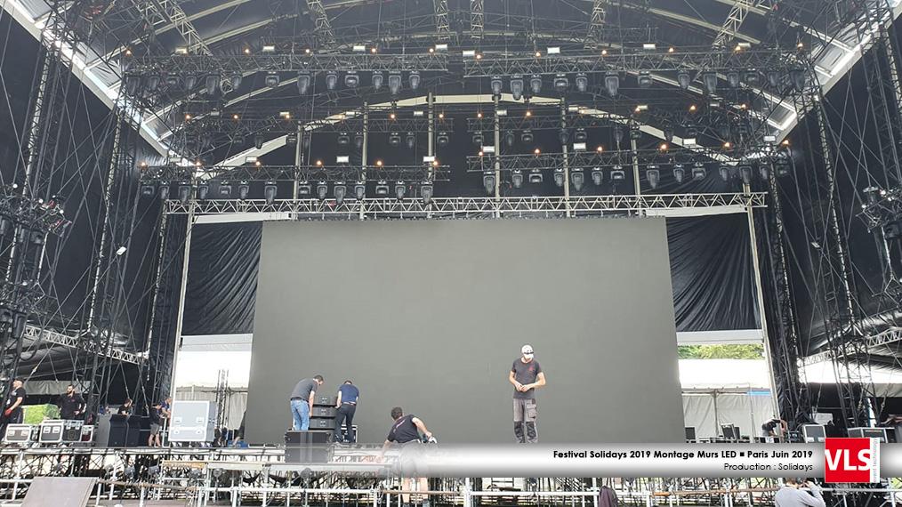 montage écran LED solidays 2019