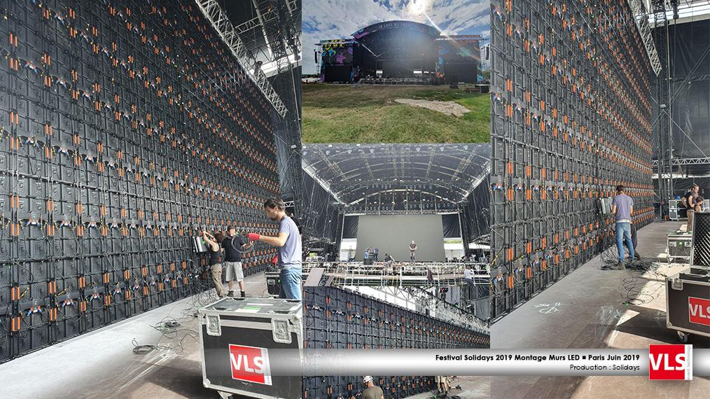 Montage Solidays écrans LED scène Paris et Bagatelle