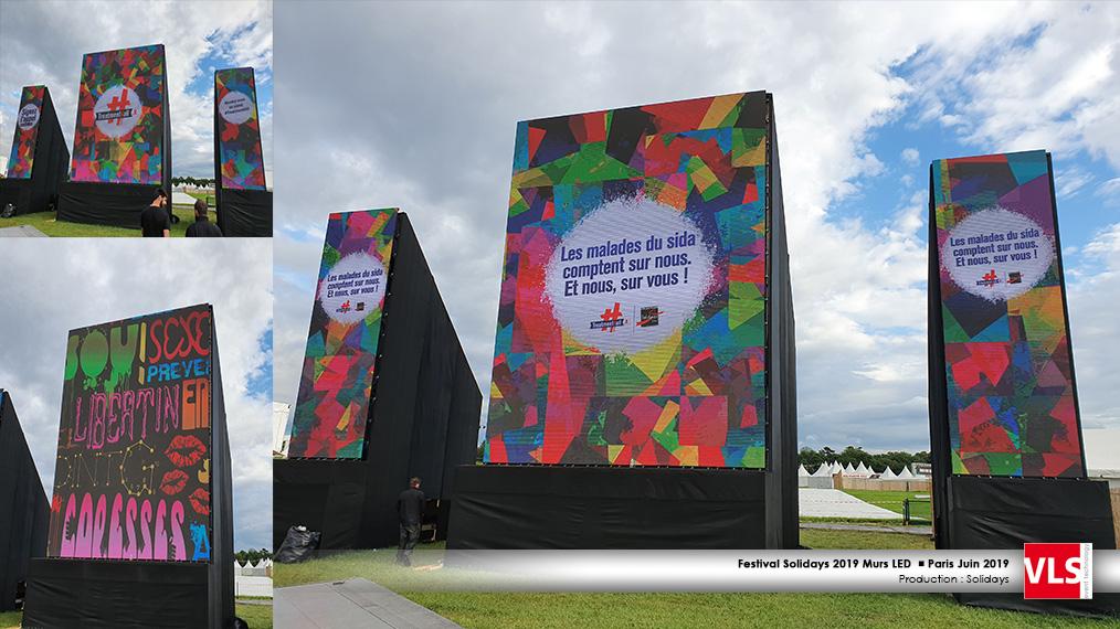 triptyque LED Solidays scène Paris 2019