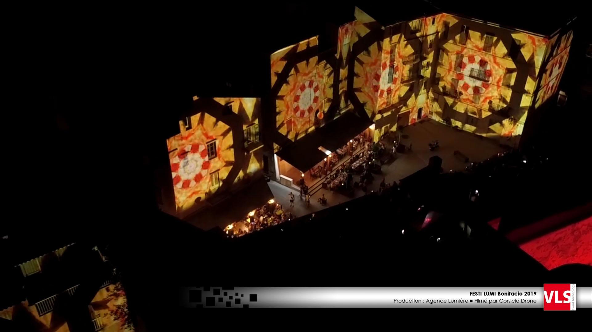 projection vidéo mapping sur façade à Bonifacio