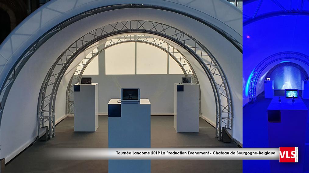 tournée Lancôme - stand tunnel