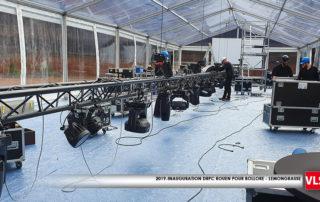 installation kit audiovisuel dans une tente cristal