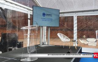 écran 98 pouces installé dans une tente crsital