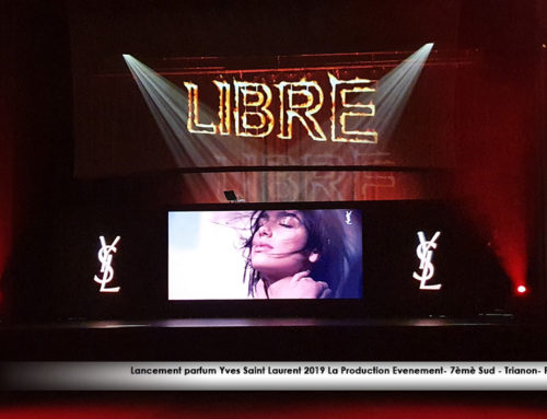 Lancement du nouveau parfum « LIBRE » d'Yves Saint Laurent-La Production & 7ème sud au Trianon- Paris 2019