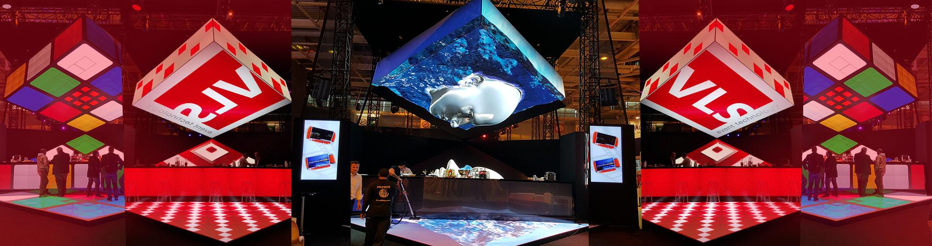cube 3D LED VLS HEAVENT PARIS 2015