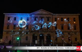 illumination mairie d'Annecy 2019