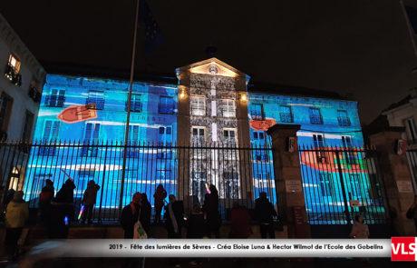 Mapping vidéo sur la mairie de Sèvres 2019