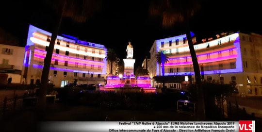 Mapping Festival 1769 Naitre à Ajaccio