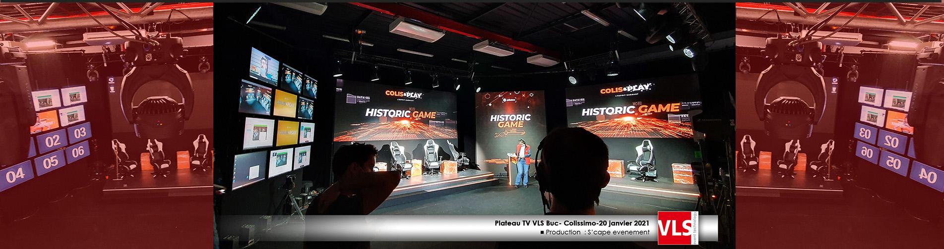 #Studio TV VLS Buc convention Colissimo prod S'cape Evenement