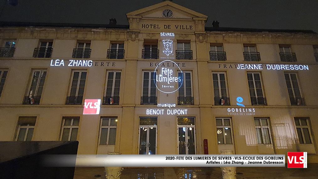 Mapping video fete des llumières de Sèvres 2020