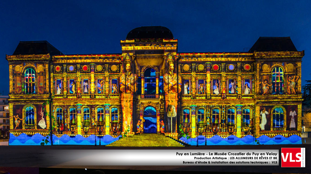 Mapping monumental sur le Musee Crozatier du Puy en Velay - installation de solution perenne