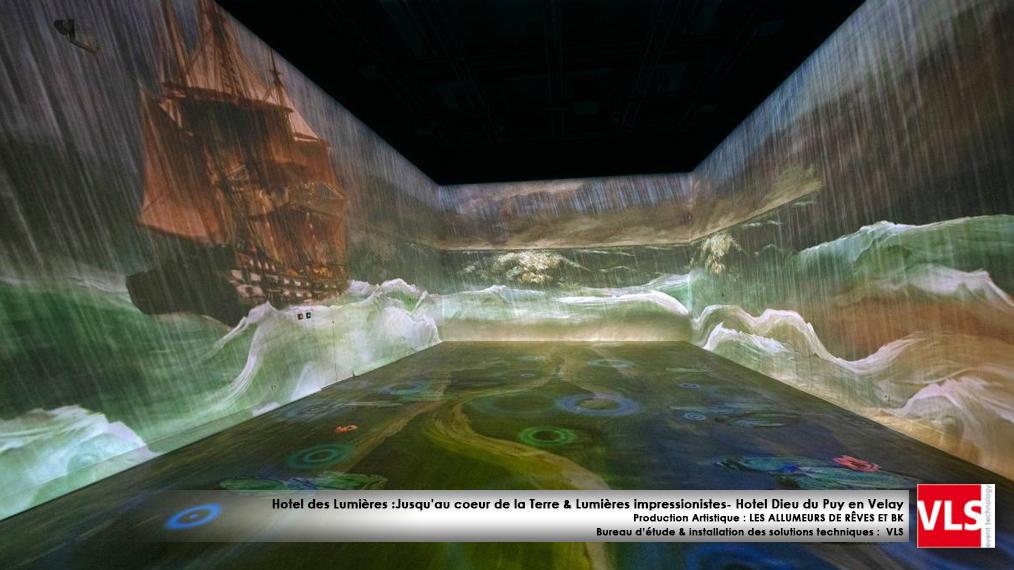 Mapping indoor immersif Puy en Velay Hotel des Lumières Jusqu au coeur de la Terre